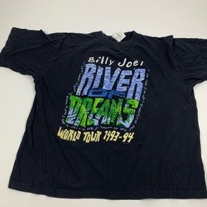 Vintage Billy Joe River Dreams Graphic Black Tee